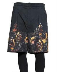 Givenchy | Black Rottweiler Felted Gabardine Shorts for Men | Lyst