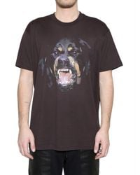 Givenchy | Brown Rottweiler Oversized Fit T-shirt for Men | Lyst