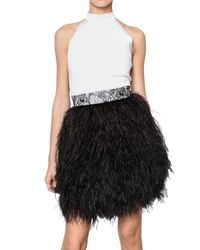 Givenchy | White Feather Halter Dress | Lyst