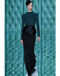 Marc Jacobs | Black Polka-dot Crepe Mermaid Skirt | Lyst
