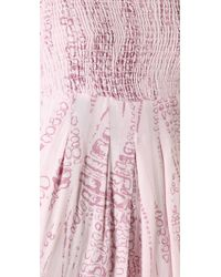 Monrow - Pink Lizzy Print Maxi Dress - Lyst