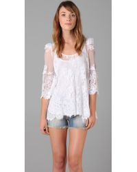 Pencey - White Lace Tunic - Lyst