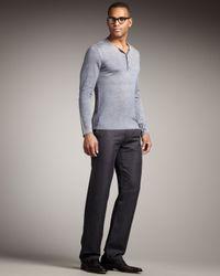 John Varvatos | Straight-leg Pants, Iron Gray for Men | Lyst