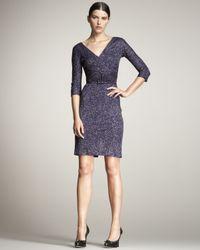 Dior | Purple Cross-front Belted Jersey Dress | Lyst