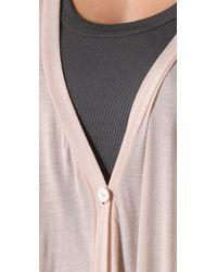 Enza Costa - Pink Oversized Cardigan - Lyst