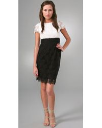 Shoshanna | Black Lace Sheath Dress | Lyst