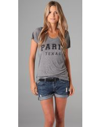 Zoe Karssen | Gray Paris Texas T-shirt | Lyst