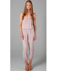 Blu Moon - White Strapless Jumpsuit - Lyst