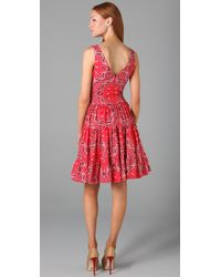 Lucy In Disguise - Red Honky Tonk Printed Cotton Dress - Lyst