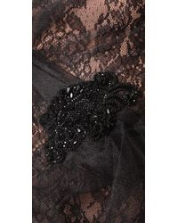 Marchesa - Black Sweetheart Dress with Tulle Overlay - Lyst