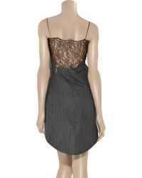 Alexander Wang | Gray Wool and Lace Tailcoat Dress | Lyst