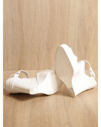 Ann Demeulemeester - White Wedge Sandal - Lyst