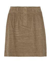 A.P.C. - Brown Corduroy Skirt - Lyst