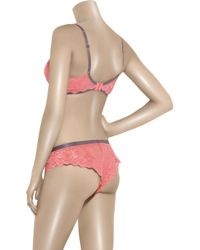 Elle Macpherson | Pink Cloud Swing Lace Underwired Dd To G Cup Bra | Lyst
