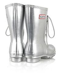 HUNTER - Metallic Original Lace Wellington Boots - Lyst