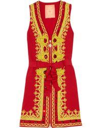 Manoush | Red Embellished Cotton-blend Dress | Lyst