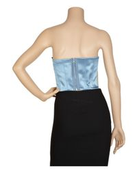 Marc Jacobs | Blue Cropped Embroidered Bustier | Lyst