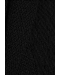 N.Peal Cashmere - Black Basket-weave Cashmere Cardigan - Lyst