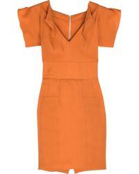 Roland Mouret | Orange Ostadar Stretch-silk Gazar Mini Dress | Lyst