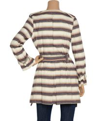 Vivienne Tam - Metallic Plaque-embellished Striped Cotton-blend Jacket - Lyst