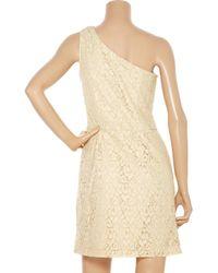 W118 by Walter Baker | Natural Violet Cotton-blend Lace One-shoulder Dress | Lyst