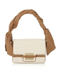 Z Spoke by Zac Posen - Natural Twist-strap Canvas and Leather Bag - Lyst