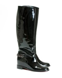 Christian Louboutin | Black Cate Patent Calf Boot | Lyst