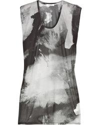 Helmut Lang | Gray Tie-dye Jersey T-shirt | Lyst