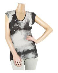 Helmut Lang - Gray Tie-dye Jersey T-shirt - Lyst