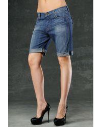 Hudson Jeans | Blue St Tropez Slouchy Skinny Short | Lyst