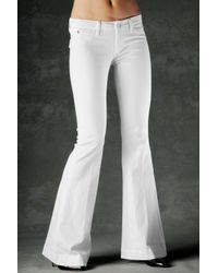 Hudson Jeans | White Ferris Flap Pocket Flare | Lyst