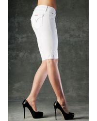Hudson Jeans - Viceroy Knee Shorts, White - Lyst