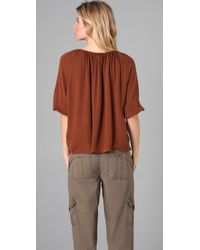Joie | Brown Newbury Peasant Top | Lyst
