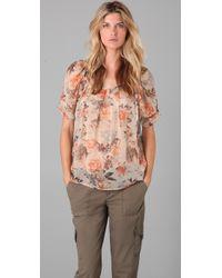 Joie | Multicolor Eleanor Shadow Floral Blouse | Lyst