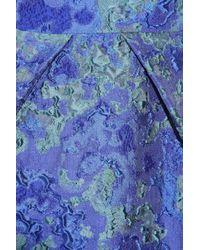 Lela Rose - Blue Matelasse Dress - Lyst