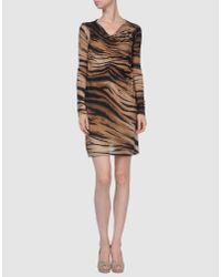 Plein Sud Jeanius - Multicolor Tiger Print Dress - Lyst