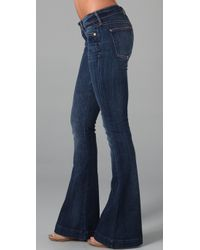 7 For All Mankind | Blue The Jiselle Flare Jeans | Lyst