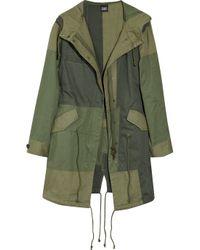 Edun | Green Patchwork Cotton Parka Jacket | Lyst
