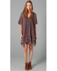 Free People | Brown Beaded Beauty Dress | Lyst