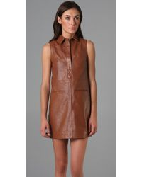 Jenni Kayne - Brown Welt Polo Dress - Lyst