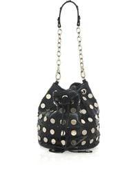 Temperley London - Black Aurora Studded Leather Pouch Bag - Lyst