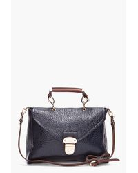 Mulberry | Blue Polly Push Lock Tote | Lyst