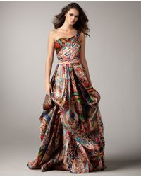 Naeem Khan | Multicolor Printed Organza Gown | Lyst