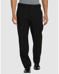 Emporio Armani | Black Casual Pants for Men | Lyst