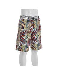 Robert Graham | Blue Red Multicolor Abstract Swirl Jet Ski Board Shorts for Men | Lyst
