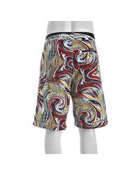 Robert Graham | Blue Red Multicolor Abstract Swirl Jet Ski Board Shorts for Men | Lyst