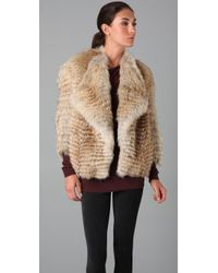 Vince | Natural Coyote Fur Jacket | Lyst