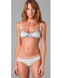 VPL | Gray Insertion Bra | Lyst