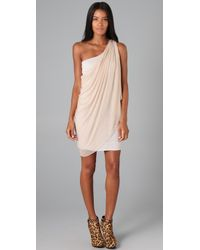 Alice + Olivia | White Draped One Shoulder Dress | Lyst
