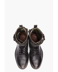 DIESEL | Black Elwood Boots for Men | Lyst